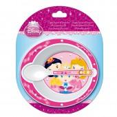 Набор для СВЧ: миска + ложка. Принцессы