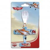 Набор ложка + вилка, в форме самолета. Самолеты