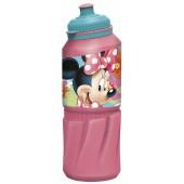 Бутылка пластиковая (спортивная 530 мл). Минни Маус Цветы