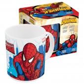 Кружка керамическая в подарочной упаковке (№3, 325 мл). Человек паук