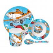 Набор посуды керамической в подарочной упаковке (4 предмета, блистер). Самолеты