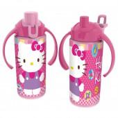 Бутылка спортивная с ручками (360 мл). Hello Kitty