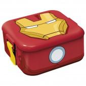 Ланч-бокс пластиковый квадратный. Мстители Железный человек