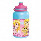 Бутылка пластиковая (спортивная, 400 мл). Принцессы и их питомцы
