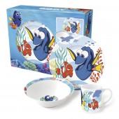 Набор посуды керамической в подарочной упаковке (3 предмета). В поисках Дори