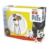 Набор посуды керамической в подарочной упаковке (3 предмета). Тайная жизнь домашних животных