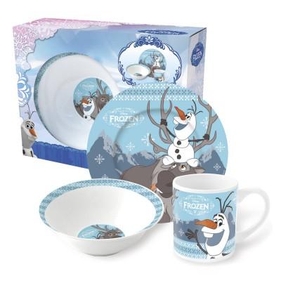 Набор посуды керамической в подарочной упаковке (3 предмета). Холодное сердце Олаф и Свен