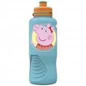 Бутылка пластиковая (спортивная, эрогономичная, 400 мл). Свинка Пеппа