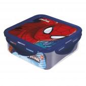 Контейнер пластиковый (квадратный, 500 мл). Человек-паук Красная паутина