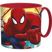 Кружка пластиковая (для СВЧ, 265 мл). Человек-паук Красная паутина