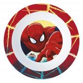 Миска пластиковая (для СВЧ). Человек-паук Красная паутина