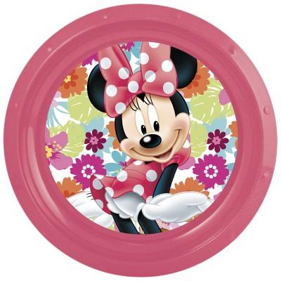 Тарелка пластиковая. Минни Маус Цветы