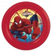 Тарелка пластиковая. Человек-паук Красная паутина