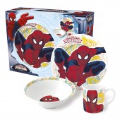 Набор посуды керамической в подарочной упаковке (№3, 3 предмета). Великий Человек-паук