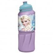 Бутылка пластиковая (спортивная 530 мл). Холодное сердце Цветы