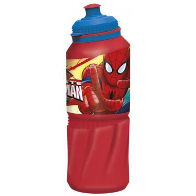 Бутылка пластиковая (спортивная 530 мл). Человек-паук Красная паутина