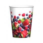 Набор бумажных стаканов Ягоды, 6 шт*205 мл, в т/у пленке+ч/б стикер