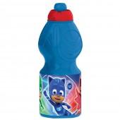 Бутылка пластиковая (спортивная, фигурная, 400 мл). Герои в масках