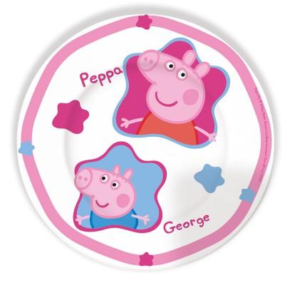 Тарелка керамическая (плоская) Свинка Пеппа