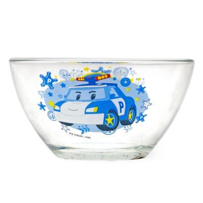 """Салатник """"Робокар Поли"""" Поли (дизайн 1), 12,5 см, стекло"""