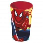 Стакан пластиковый (350 мл). Человек-паук Красная паутина