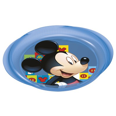 Тарелка пластиковая с ручками (для СВЧ). Микки Маус Символы