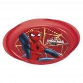 Тарелка пластиковая с ручками (для СВЧ). Человек-паук Красная паутина