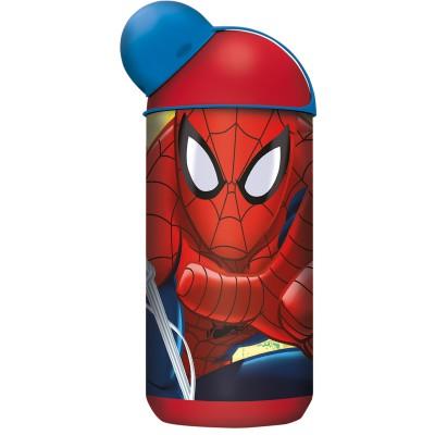Бутылка пластиковая (эрогономичная, 400 мл). Человек-паук Красная паутина