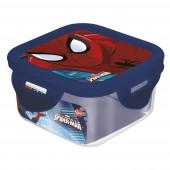 Контейнер пластиковый (квадратный, 290 мл). Человек-паук Красная паутина