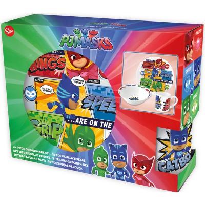 Набор посуды керамической в подарочной упаковке (3 предмета). Герои в масках Команда