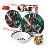 Набор посуды керамической в подарочной упаковке (3 предмета). Звездные Войны Реальность