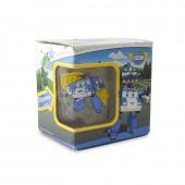 """Кружка """"Робокар Поли"""", Поли (матовый), в подарочной упаковке, 250 мл, стекло"""