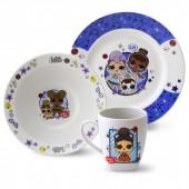 L.O.L. Surprise! Набор посуды в подарочной упаковке (3 предмета), фарфор