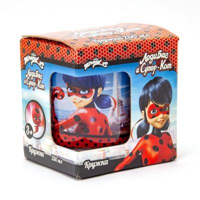 """Кружка """"Леди Баг и Супер Кот"""" Леди Баг - Париж, в подарочной упаковке, 250 мл, стекло"""