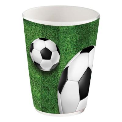 Набор бумажных стаканов Футбол, 6 шт*205 мл