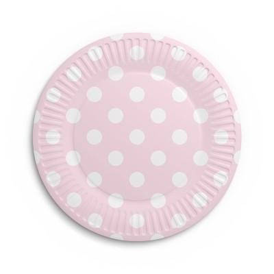 Набор бумажных тарелок Горох, 6 шт, d=180 мм