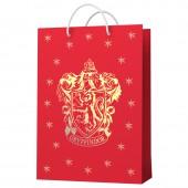 Harry Potter. Пакет подарочный большой (Герб Гриффиндор), 220*310*100 мм
