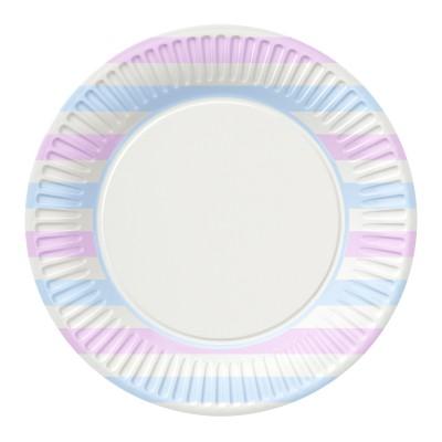 Набор бумажных тарелок Пастель, 6 шт, d=230 мм