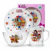 L.O.L. Surprise! Набор посуды в подарочной упаковке (3 предмета), стекло