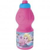 Бутылка пластиковая (спортивная, фигурная, 400 мл). Холодное сердце. Радужная вода