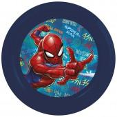 Тарелка пластиковая. Человек-паук Граффити