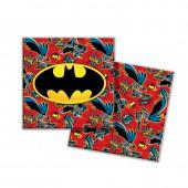 Batman. Салфетки бумажные трехслойные (красные) 33*33 см, 20 шт