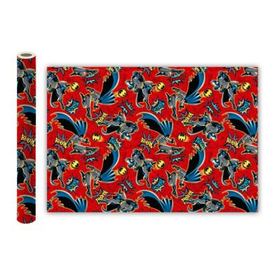 Batman. Упаковочная бумага (красная), 700*1000 мм, 2 шт в рулоне