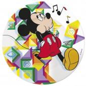 Тарелка керамическая. Микки Цветовой поток
