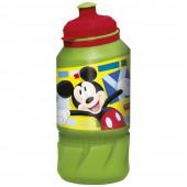 Бутылка пластиковая (спортивная 420 мл). Микки Маус Акварель