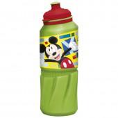 Бутылка пластиковая (спортивная 530 мл). Микки Маус Акварель