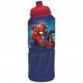 Бутылка пластиковая (спортивная 530 мл). Человек-паук Граффити