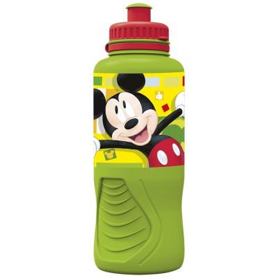 Бутылка пластиковая (спортивная, эрогономичная, 400 мл). Микки Маус Акварель