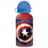 Бутылка алюминиевая (400 мл). Капитан Америка. Значок