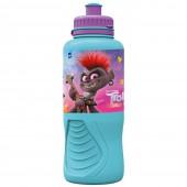 Бутылка пластиковая (спортивная, эрогономичная, 400 мл). Тролли 2. Мировое турне